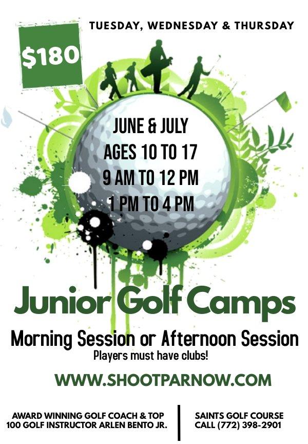 Shoot Pay Now Junior Golf Camps Port St. Lucie Saints Golf Course