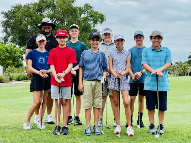 Junior Golf Camp Shoot Par Now Saints Golf Course Port St Lucie Florida